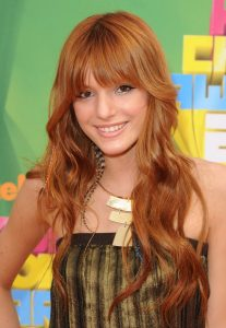 Bella Thorne bangs hairstyle