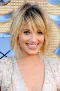 Dianna Agron hairstyle with bangs