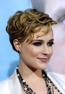 Evan Rachel Wood short hair with bangs