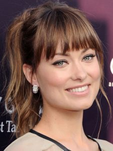 Olivia Wilde bangs hairstyle