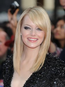 Emma Stone hairstyle with bangs