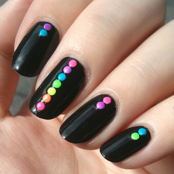 Easy nail designs cute and easy nail art for beginners part 5 10dark neon nails prinsesfo Gallery