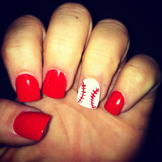 15Softball Nails - Easy Nail Designs: Cute And Easy Nail Art For Beginners - Part 5