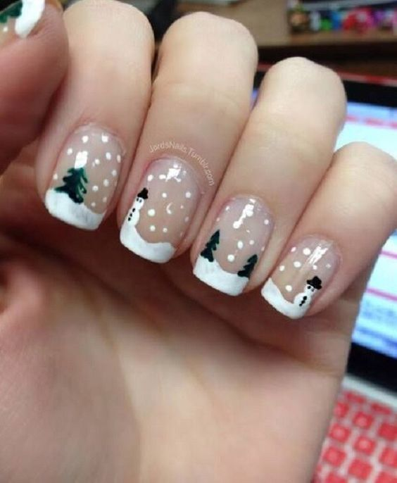 30 christmas nail designs for a festive holiday part 19 23snow globe nails prinsesfo Images
