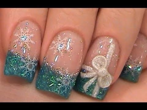 30 christmas nail designs for a festive holiday 9christmas present french manicure prinsesfo Image collections