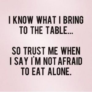 Eating alone quote