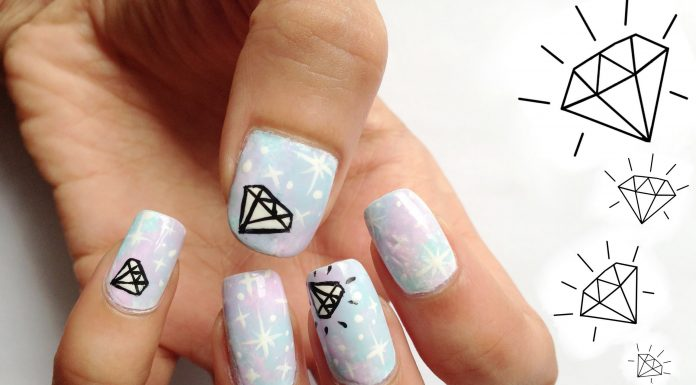 diamond nail designs