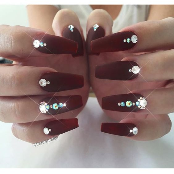 Diamonds Nail Art Design Ideas