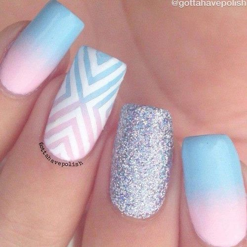 Pastel nails 35 creative pastel nail art designs part 9 white geometric motives pastel glitter gorgeous matte ombr nail artdo we need to say more prinsesfo Image collections