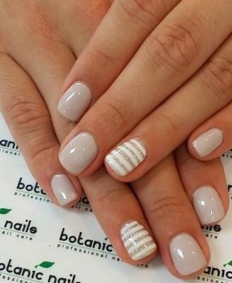 Nude nails 30 beautiful nude color nail designs part 7 10striped nude this nail art prinsesfo Images