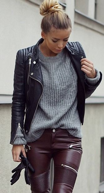 30 Street Style Leather Jacket Outfits