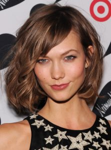 Karlie Kloss hairstyles with bangs