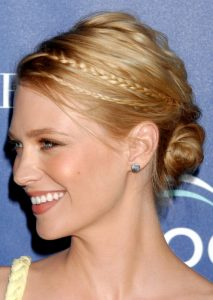 January Jones hair updo
