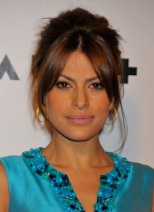 Eva Mendes hairstyle updo