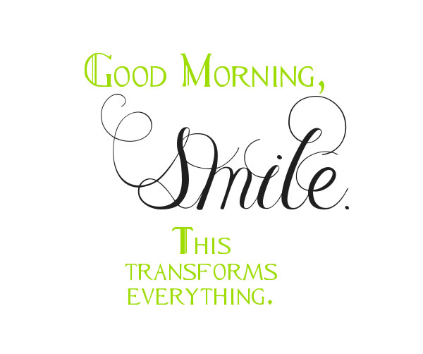 Good morning, smile. This transforms everything