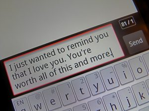 Text him a reason why you love him every hour