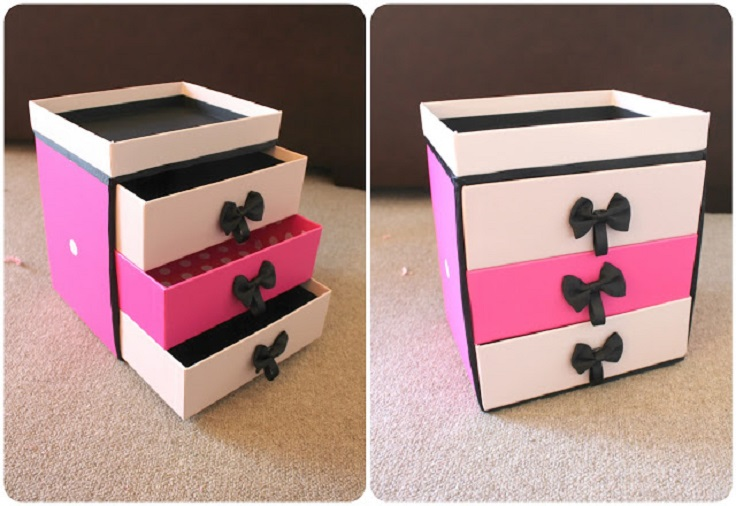 30 Shoe Box Craft Ideas: Best DIY Makeup Storage Ideas
