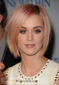 bob with blonde and pink reverse ombre