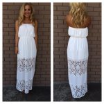 Long casual strapless dress