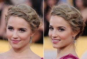 Updo with a front braid