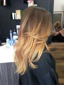 ash brown with ombre