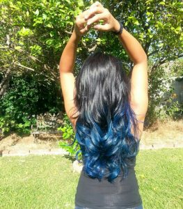 blue ombre extensions