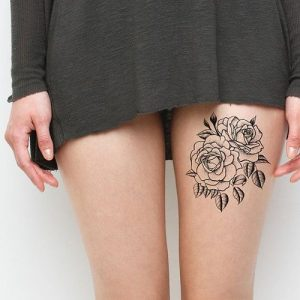 cute thigh tattoos