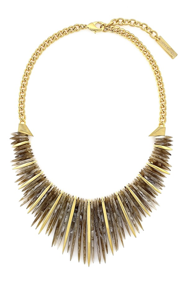spiky metallic necklace