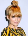 Top Knot hairtyle with bangs