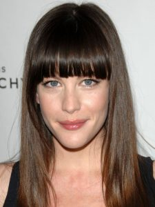 Liv Tyler with straight bangs