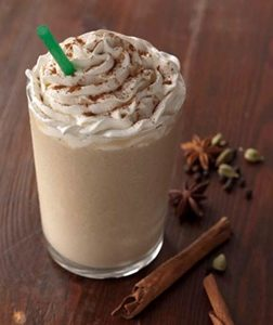 starbucks frappuccino list