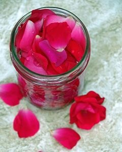 rose water for hair