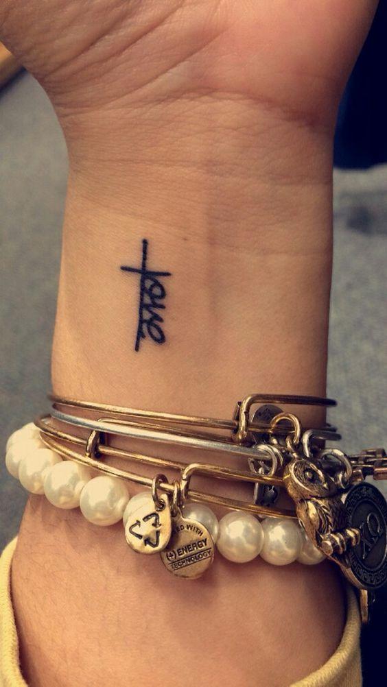 tiny love tattoo