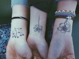 sister tattoos for 3