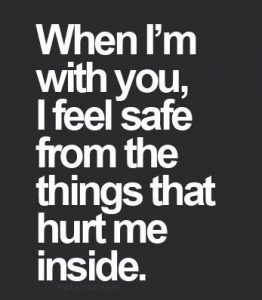 i feel safe with you quote