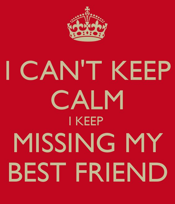 31I Canu0027t Keep Calm, I Keep Missing My Best Friend.