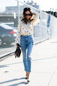 spring outfit with jeans