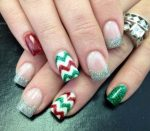 busy Christmas nails