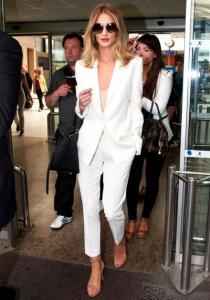 classy outfit white color