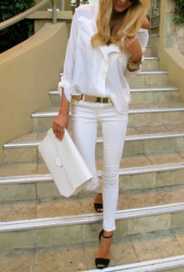 office white outfit