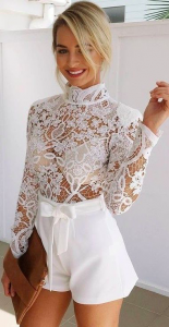 sexy white lace outfit