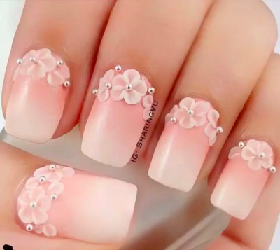 35 pink and white nails and designs add a bit of texture with some cute flower shaped nail jewels and do yourself a fabulous ombr fading towards a sophisticated white solutioingenieria Images