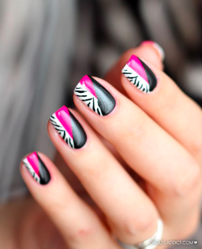 35 Pink And White Nails