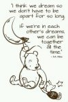 Winnie the Pooh Dreaming Quote