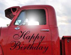 Happy birthday truck picture