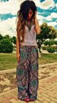 Wired top and Bohemian-style pants