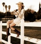 Country dress and cowboy boots