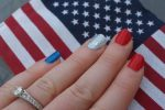 American-colored nails
