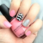 Chevron Print nails