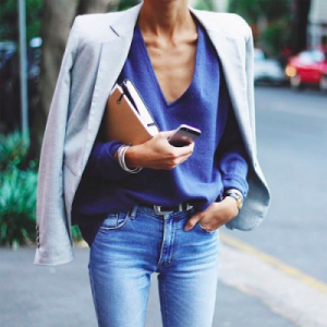 blue classy outfit